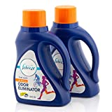 Laundry Odor Eliminator by Febreze, In Wash Clothes Scent Booster, Deodorizer, Detergent Additive, Fabric Refresher, Fresh Scent, 50 Fluid Oz, Pack of 2