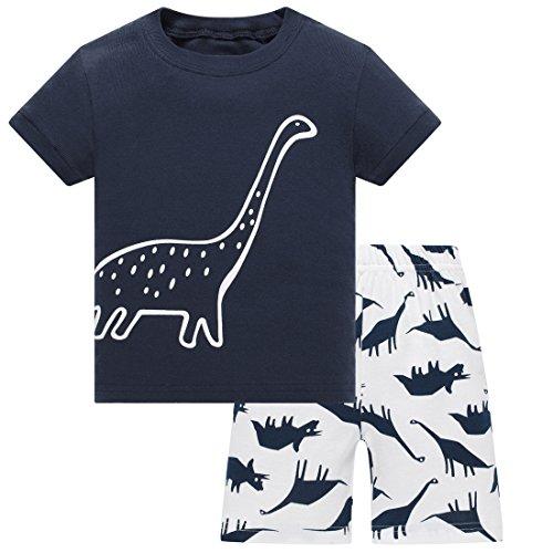 Tkala Boys Christmas Pajamas Girls Children Clothes Set Dinosaur 100% Cotton Little Kids Pjs Sleepwear (3T, Dinosaur (Kids Pajamas Christmas)