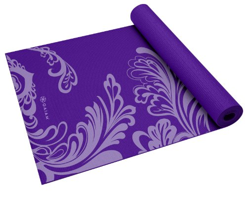 Gaiam Print Yoga Mat, Watercress, 3/4mm