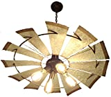 LAMP GOODS WINDMILL CHANDELIER LIGHT FIXTURE For Sale