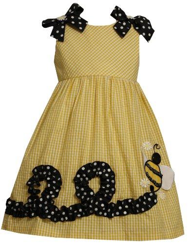 Bonnie Jean Little Girls' Bumble Bee Applique Seersucker Dress