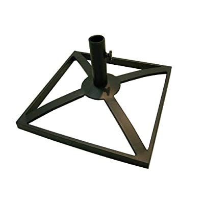 "The Outdoor Patio Store Manchester 18"" Square Steel Umbrella Base Blac : Garden & Outdoor"