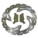 Rear Wave Disc Brake Rotor & Semi-Metallic Brake Pads 2000-2007 Honda XR650R