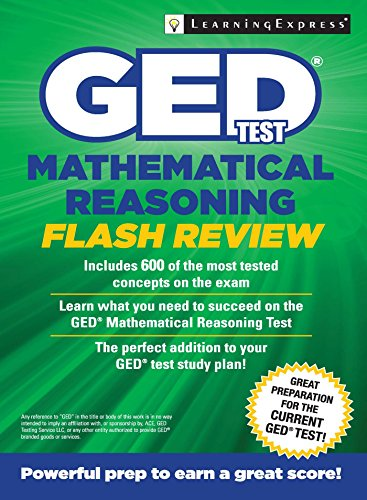 GED Test Mathematical Reasoning Flash Review (1st 2015) [LearningExpress]