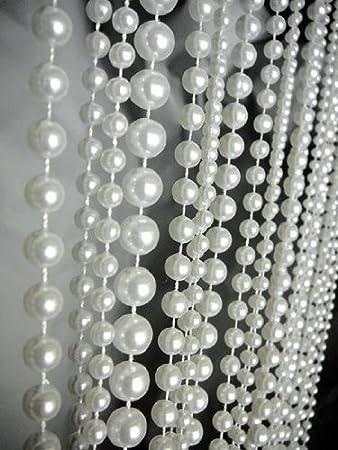 Amazon.com: 3 Ft X 6 Ft Ball Chain Beaded Curtain - Room Divider ...