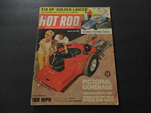 Hewlett Packard Rod - Hot Rod Aug 1962 410 HP Golden Lancer; 169 MPH Glass Drag Roadster