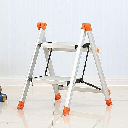 Taburete, Escalera de Dos Peldaños, Marco Plegable de Aluminio, B-D: Amazon.es: Bricolaje y herramientas