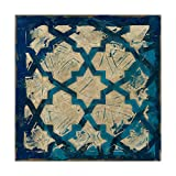 Trademark Fine Art Stained Glass Indigo I by Megan Meagher, 24x24-Inch, 24x24,