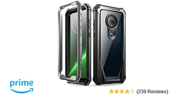 Moto G7 Rugged Clear Case, Poetic Full-Body Hybrid Shockproof Bumper Cover,  Built-in-Screen Protector, Guardian Series, DO NOT FIT Moto G7 Power Or