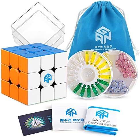Coogam GAN 356 X Speed Cube 3x3 Stickerless Gans 356X Magnetic Puzzle Cube Gan356 X 3x3x3 M (Numerical IPG Version)