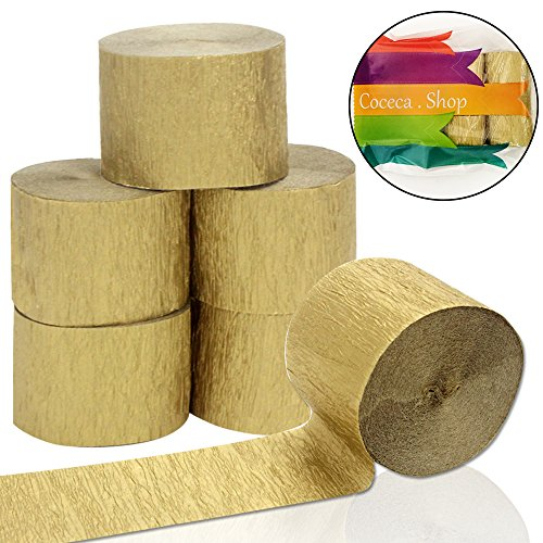 gold paper streamers - 2