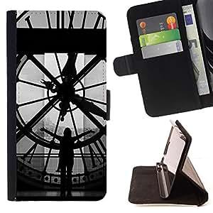 BullDog Case - FOR/Samsung Galaxy S5 Mini, SM-G800 / - / Architecture Big Ben Clok Inside /- Monedero de cuero de la PU Llevar cubierta de la caja con el ID Credit Card Slots Flip funda de cuer