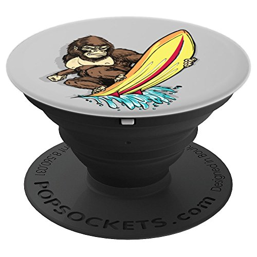 Gorilla Animal Surfer Surfboard Wave Pop Socket - PopSockets Grip and Stand for Phones and ()