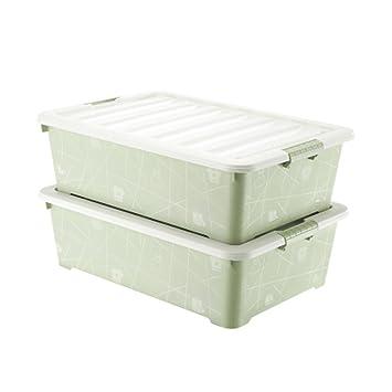 Amazon Com 2 Pack King Size Bed Bottom Storage Box Bed Storage Box