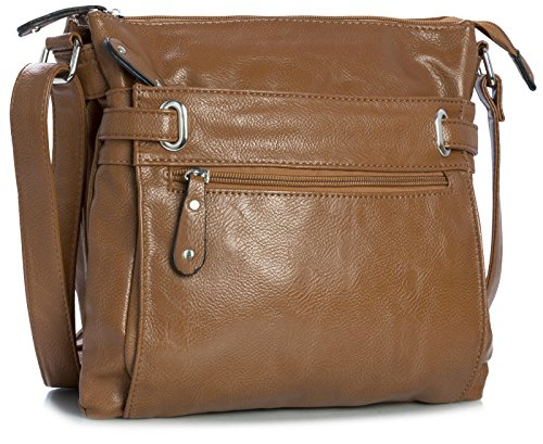 Brown Body Messenger Shoulder Handbag Trendy Big Shop Bag Medium Cross Womens 7vFwn4CqB