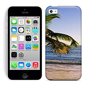 Best Power(Tm) HD Colorful Painted Watercolor S Beach Tropical Beach Susnet Hard Phone Case For Iphone 5C