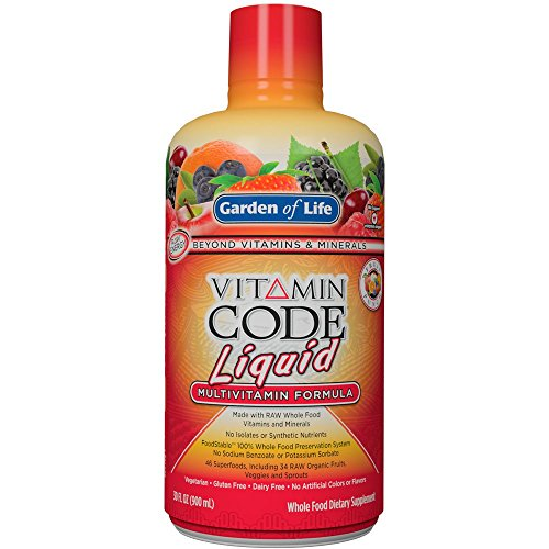 Garden of Life Multivitamin - Vitamin Code Liquid Raw Whole Food Vitamin, Vegetarian Supplement, No Preservatives, Fruit Punch, 30oz Liquid