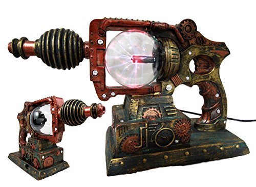 Atlantic Collectibles Steampunk Electric Plasma Core Reactor Laser Static Storm Ball Ionizer Gun Decorative Accent Lamp Figurine - Glasses Light Reactor