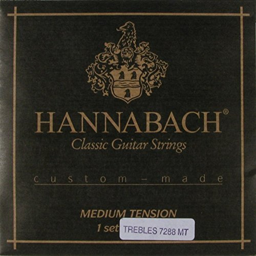 Hannabach Classical Guitar Medium Tension Nylon Treble Set Medium Tension, 728-Trebles-MT