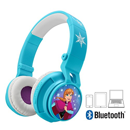 Frozen Bluetooth Headphones Disney Movie Wireless Kid Friendly Sound with Anna & Elsa Graphics