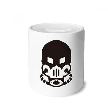 DIYthinker La máscara Fresca del Gas Contaminación Counter Strike Caja de Dinero de Las Cajas de ahorros de cerámica Adultos Moneda de la Caja para niños: ...