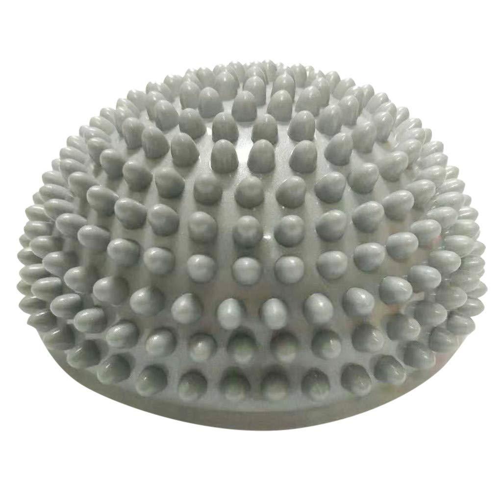 Silver Anti-Slip Foot Massage Ball Half Ball Massage Mat Exercise Balance Point for Yoga Pilates Relieve Feet Pain Balance Pod /& Foot Fitness Sets