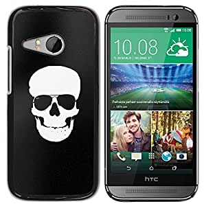 GOODTHINGS ( NO PARA HTC ONE M8 ) Funda Imagen Diseño Carcasa Tapa Trasera Negro Cover Skin Case para HTC ONE MINI 2 / M8 MINI - matices minimalistas cráneo blanco negro
