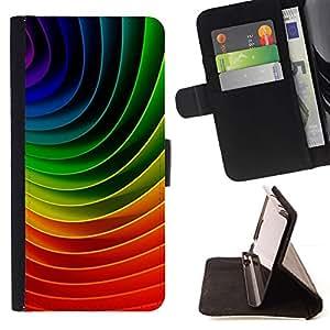 Colourful Abstract Curve Pattern - Modelo colorido cuero de la carpeta del tirón del caso cubierta piel Holster Funda protecció Para Apple iPhone 5C