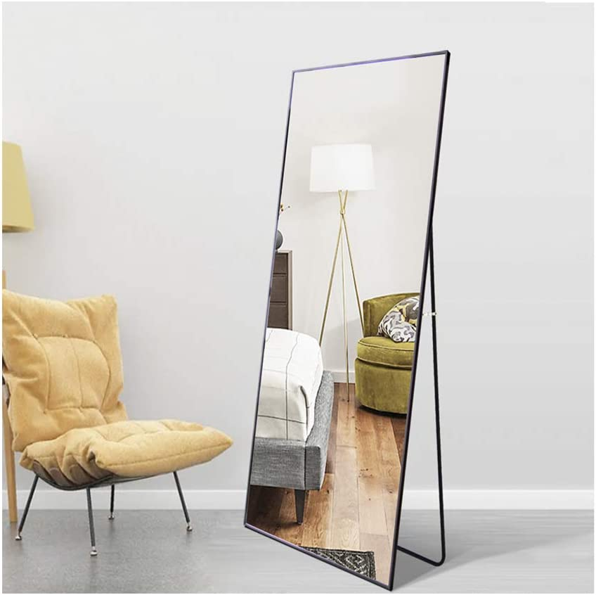Beauty4U Wall Mirror/Floor Mirror Full-Length Black Dressing Mirror for Wall or Home Décor
