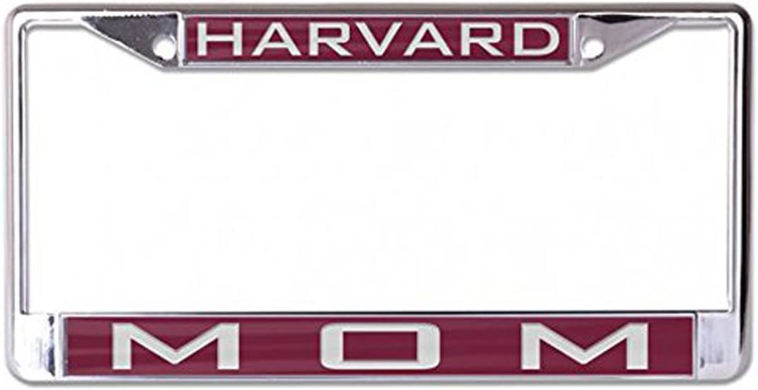 WinCraft Harvard University Mom and Dad Premium License Plate Frame Gift Set Metal with Inlaid Acrylic