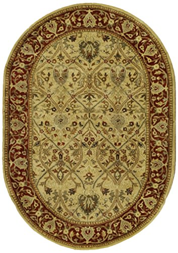 Safavieh Persian Legend Collection PL819D Handmade Traditional Ivory and Rust Wool Area Rug (4' x - Handmade Carpet