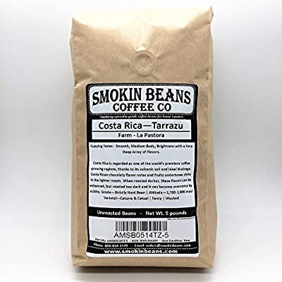 COSTA RICA TARRAZU – FRESH CURRENT-CROP Specialty-Grade Green Unroasted Coffee Beans- CENTRAL AMERICA – Varietal: Caturra, Catuai – From one of the World's Premier Coffee Growing Regions