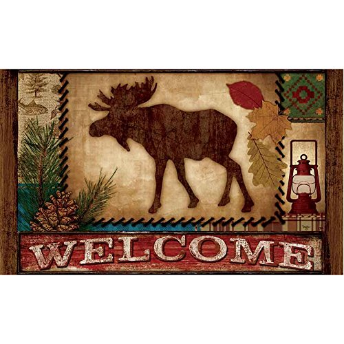 Custom D%C3%A9cor Welcome Moose Doormat