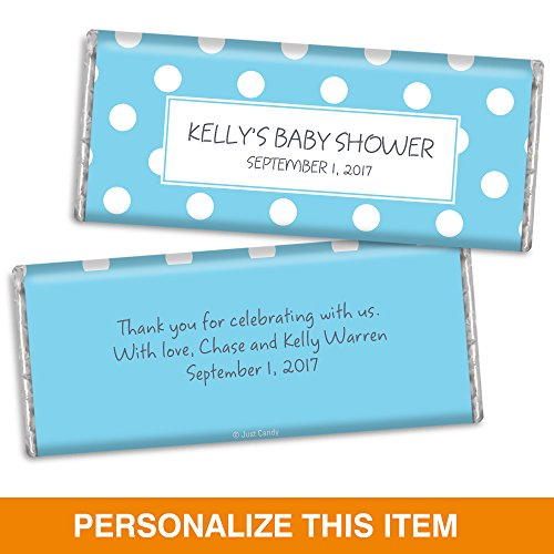 Baby Shower Candy Bar Wrappers - Polka Dots (25 wrappers) -
