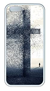iPhone 5 5S Case A cross being blow away TPU Custom iPhone 5 5S Case Cover White