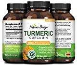 Cheap Natures Design Ground Turmeric Curcumin with Bioperine for Men and Women All Natural Pure Root Extract Supplement Best Immune Response Benefits + Top Joint Health Antioxidant Capsules