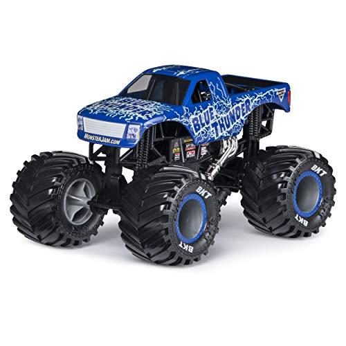 Monster Jam, Official Blue Thunder Monster Truck, Die-Cast Vehicle, 1: 24 Scale (Die Cast Monster Trucks)