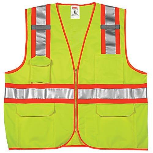 AM Leonard V738-9L-S-M Surveyor Safety Vest - Small/Medium, Lime