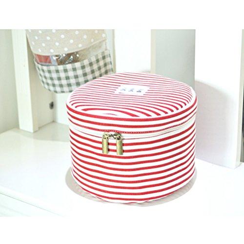Fieans Travel Organizer Aufbewahrungstasche Bra nterwäsche Tasche Lingerie Fall Box toiletbag BHs schützt Wäsche-Rot
