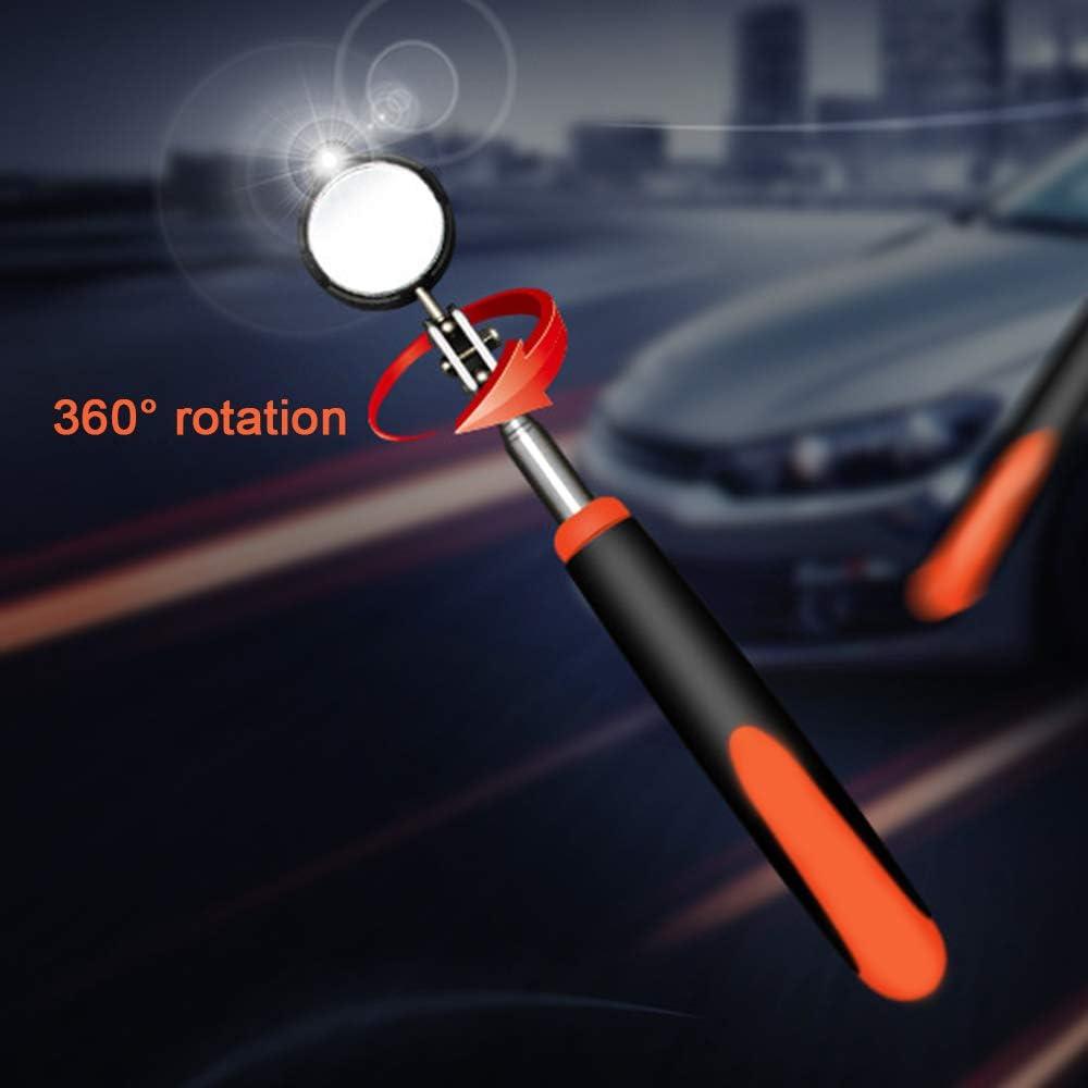 LED Lighted Flexible 360 pivotant pour R/éparation Automobile loutil Miroir Parfait pour Votre Boutique Entretien et linspection LYN/&xxx T/él/éscopique Inspection Automatique Miroir