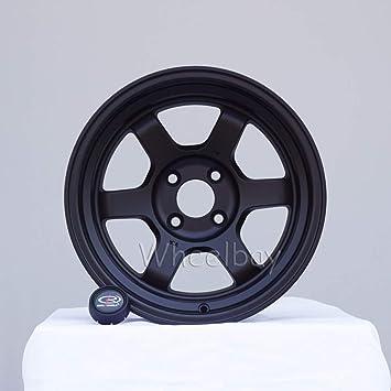 One 15x8 Rota Grid Concave 5x100 20 Flat Black Wheel