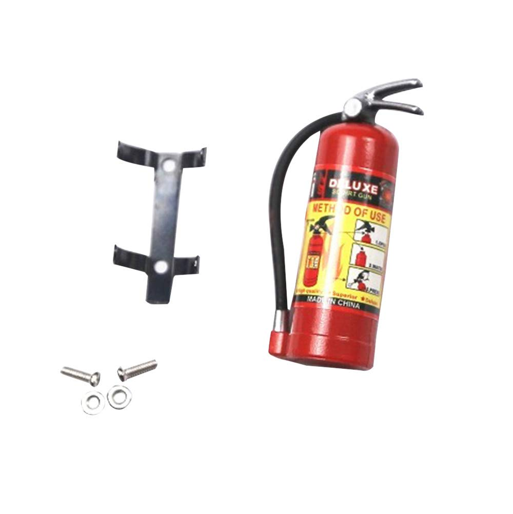 Livoty 1/10 RC Crawler Accessory Parts Fire Extinguisher Model for Axial SCX10 TRX4 (Red)