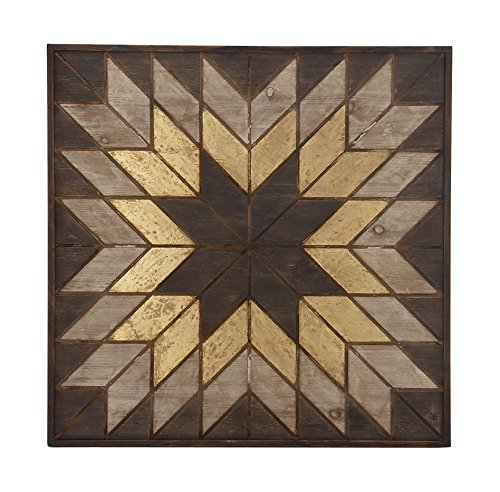 Deco 79 98726 Wooden Snowflake Wall Plaque, 32