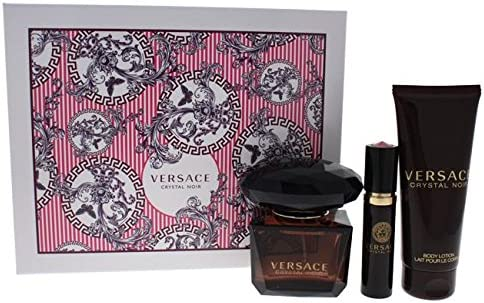Versace Crystal Noir Edp 90 Ml Body Lotion 100 Ml Edp 10 Ml Set