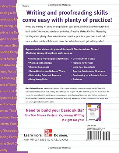 Workbook 4th grade spanish worksheets : Amazon.com: Practice Makes Perfect Mastering Writing (Practice ...