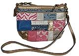 Coach Patchwork Zip Top Swingpack Crossbody Messenger Bag Purse 45637 Multi