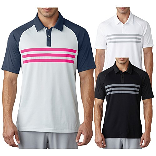 adidas Golf Men's Climacool 3 Stripe Competition Polo