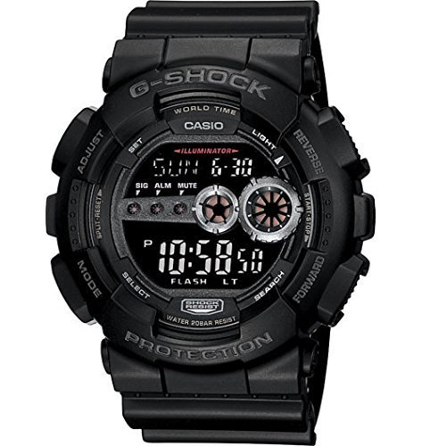 Casio Men's GD100-1BCR G-Shock X-Large Black Multi-Functional Digital Sport W…