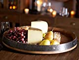 "MGP Wine Barrel Head Lazy Susan Turn Table, Handcrafted From Reclaimed Wine Barrel, 24""W x 3""H"