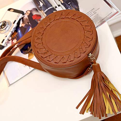 rosso hombro mujer HOMYY al Bolso para rojo marrón z1A7Pnp